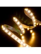 DEMODU® Premium 12V Weiß 5m Rolle 960 Lumen pro Meter IP20 helle 3528 SMD 120/m LED Streifen selbstklebend dimmbar