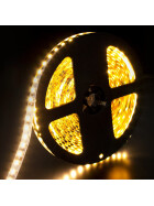 DEMODU® Premium 24V Weiß 5m Rolle 960 Lumen pro Meter IP20 helle 3528 SMD 120/m LED Streifen selbstklebend dimmbar