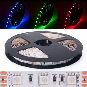 DEMODU® PREMIUM 24V LED Streifen RGB mehrfarbig bunt...