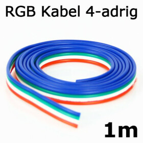 4 adrig LED RGB Kabel Litze StripsVerbindungskabel Verlängerungskabel Meter
