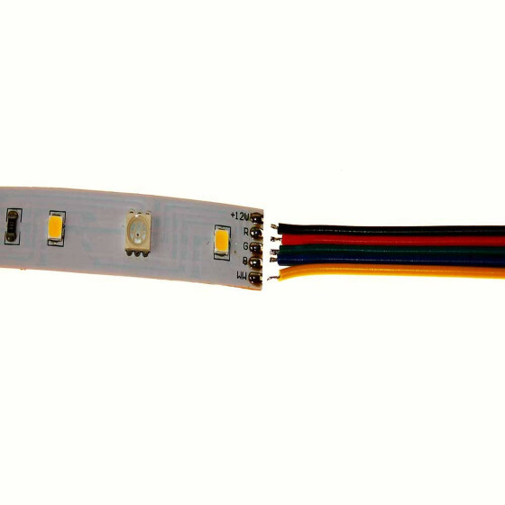5 adrig LED RGBW Kabel Litze StripsVerbindungskabel Verlängerungskabel Meter