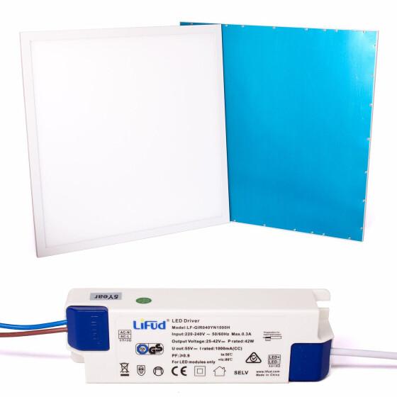 40W LED Panel Einlegeleuchte 62x62cm weißer Rahmen 100lm/W Ra83 Deckenpanel Flächenleuchte Rasterdecke Oldenwalddecke