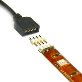 1m Verbindungskabel für 12V und 24V SMD LED RGB Streifen schwarz oder weiß 100cm lang