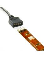 3m Verbindungskabel für 12V und 24V SMD LED RGB Streifen in weiß oder schwarz