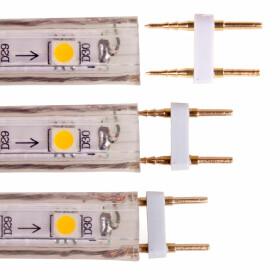 Verbinder 2-Pin für 230V 10mm SMD Streifen Leiste, Adapter, Stecker, Kupplung