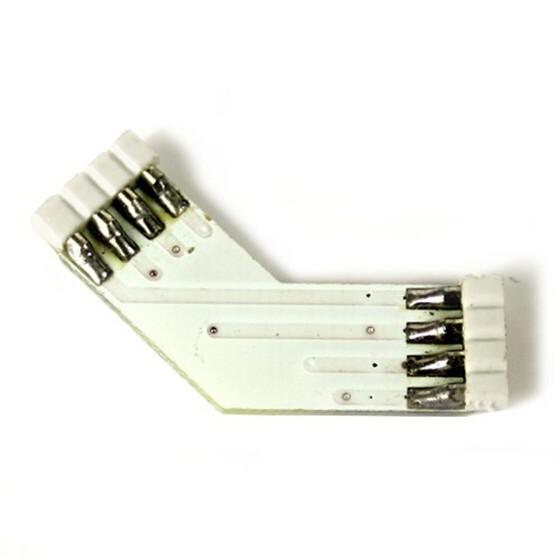 Eckverbinder 135° Grad + für RGB SMD Streifen Leisten
