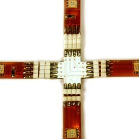 Kreuzverbinder 2 x 90° Grad für RGB SMD Streifen Leisten