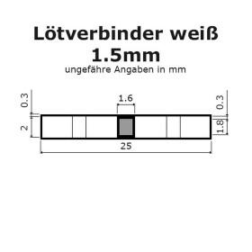 Lötverbinder weiß Ø 2mm Schrumpfverbinder Kabelverbinder Stossverbinder