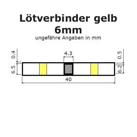 Lötverbinder gelb Ø 6mm Schrumpfverbinder Kabelverbinder Stossverbinder