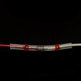 Lötverbinder rot Ø 3mm Schrumpfverbinder Kabelverbinder Stossverbinder