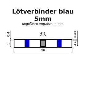 Lötverbinder blau Ø 5mm Schrumpfverbinder Kabelverbinder Stossverbinder