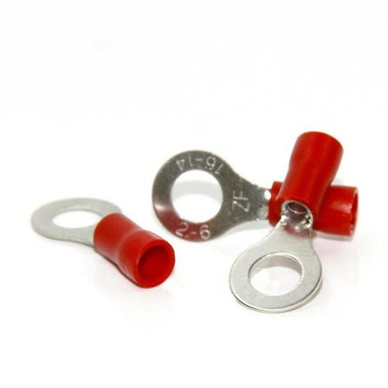 Ringkabelschuhe M6 rot 0,5-1,5mm² - 10er Pack