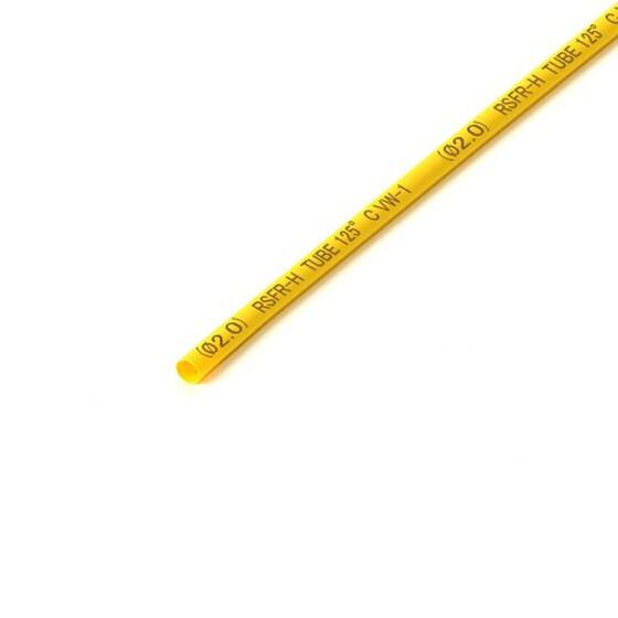 Schrumpfschlauch gelb 2mm Durchmesser 2:1 Meterware