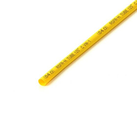 Schrumpfschlauch gelb 4mm Durchmesser 2:1 Meterware
