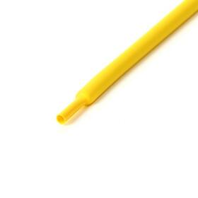 Schrumpfschlauch gelb 8mm Durchmesser 2:1 Meterware