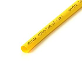 Schrumpfschlauch gelb 10mm Durchmesser 2:1 Meterware