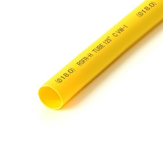 Schrumpfschlauch gelb 18mm Durchmesser 2:1 Meterware