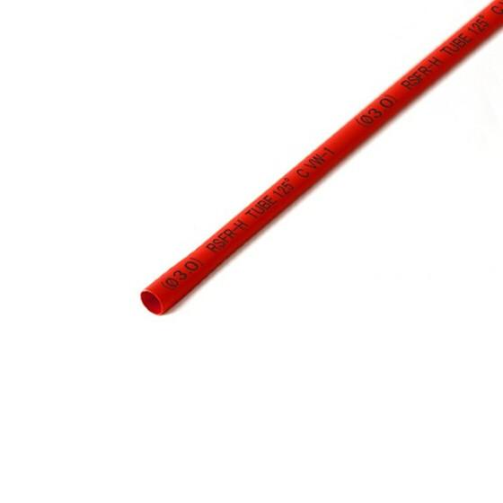 Schrumpfschlauch rot 3mm Durchmesser 2:1 Meterware