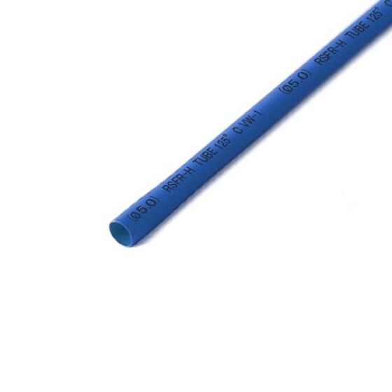 Schrumpfschlauch blau 5mm Durchmesser 2:1 Meterware