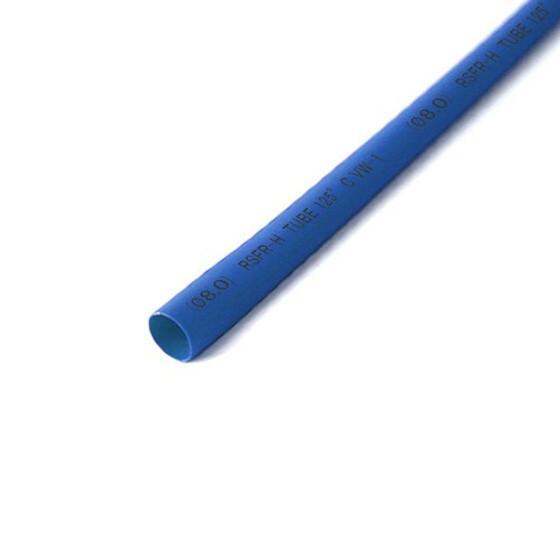 Schrumpfschlauch blau 8mm Durchmesser 2:1 Meterware