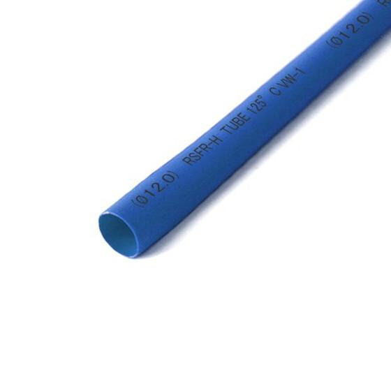 Schrumpfschlauch blau 12mm Durchmesser 2:1 Meterware