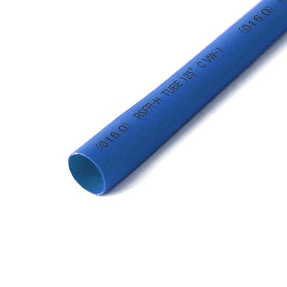 Schrumpfschlauch blau 16mm Durchmesser 2:1 Meterware