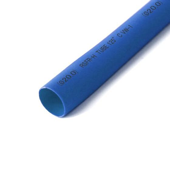 Schrumpfschlauch blau 20mm Durchmesser 2:1 Meterware