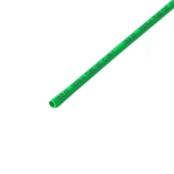Schrumpfschlauch grün 2mm Durchmesser 2:1 Meterware