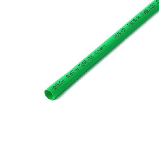 Schrumpfschlauch grün 5mm Durchmesser 2:1 Meterware