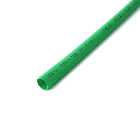 Schrumpfschlauch grün 8mm Durchmesser 2:1 Meterware