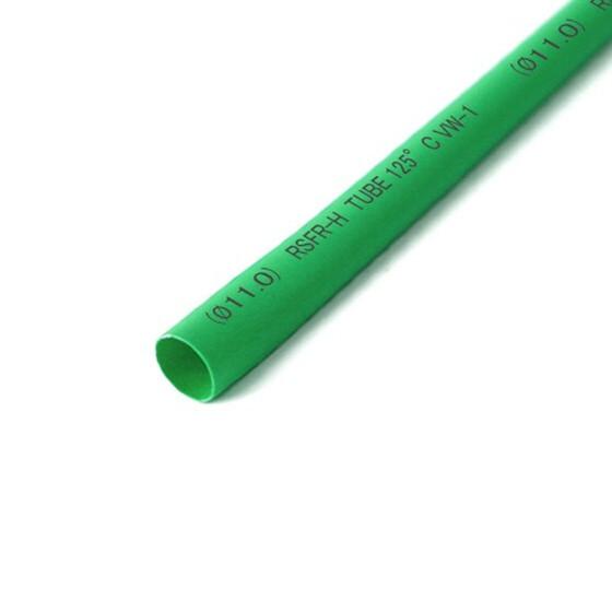Schrumpfschlauch grün 11mm Durchmesser 2:1 Meterware
