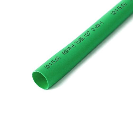 Schrumpfschlauch grün 15mm Durchmesser 2:1 Meterware