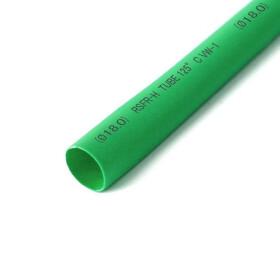 Schrumpfschlauch grün 18mm Durchmesser 2:1 Meterware