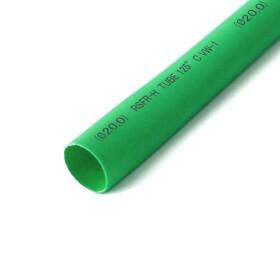 Schrumpfschlauch grün 20mm Durchmesser 2:1 Meterware