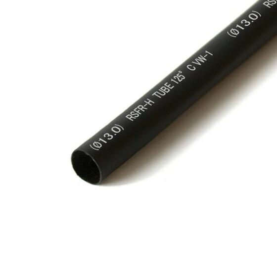 Schrumpfschlauch schwarz 13mm Durchmesser 2:1 Meterware